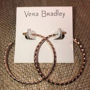 Vera Bradley Chic Elements Large Hoops Rose Gold